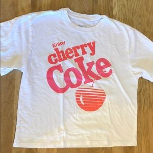 Enjoy cherry coke white T-shirt